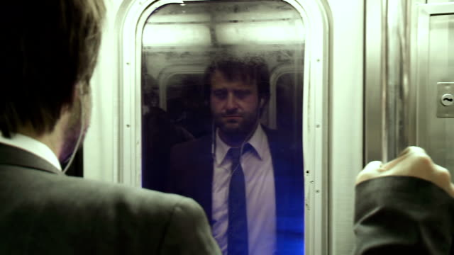HD: Businessman Traveling With The Subway video