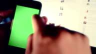 Businessman using smartphone video