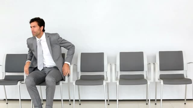 Businessman waiting for appointment video