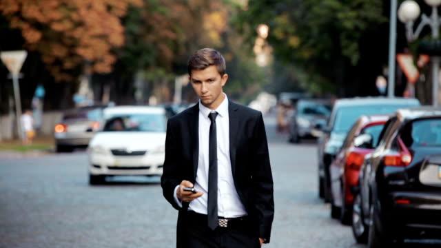 Businessman Walking on The Street video