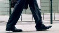 Businessman walking video