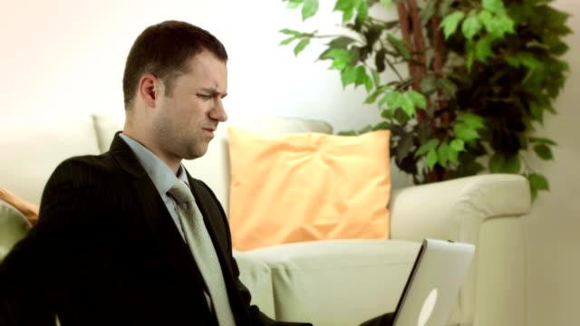 HD: Businessman With A Backache video