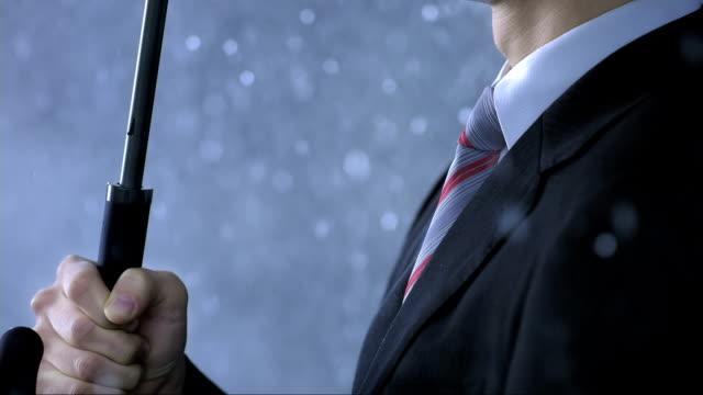 Businessman With An Umbrella video
