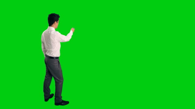 Businessman with chroma key background video