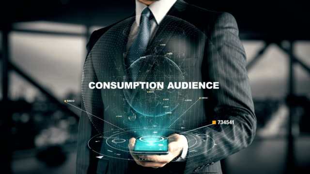 Businessman with Consumption Audience video