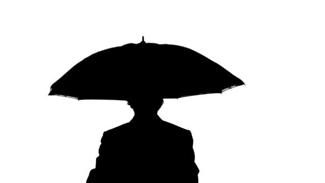 businessman with umbrella video