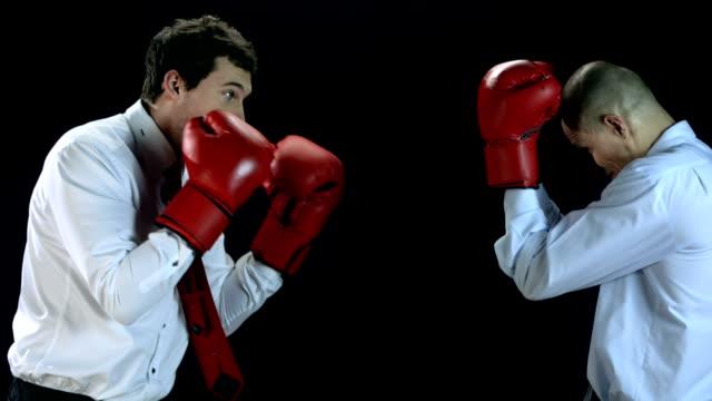 HD SLOW MOTION: Businessmen Boxing video