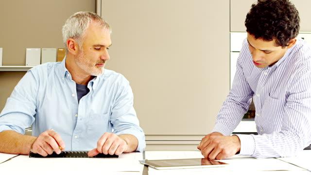 Businessmen in office video