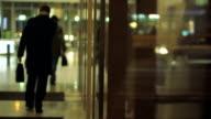 Businessmen leaving office video