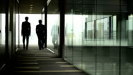 Businessmen walking away from camera video