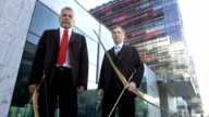 HD DOLLY: Businessmen With Bows video