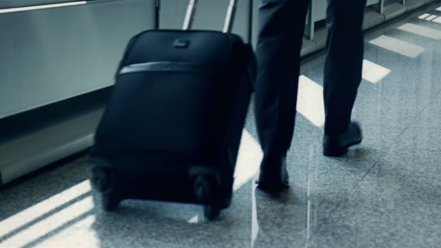Businesspeople at airport video