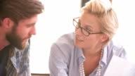 Businesspeople Having Informal Meeting In Office video
