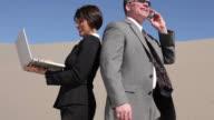Businesspeople in desert video