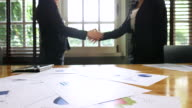 Businesspeople shaking hands video