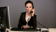 HD: Businesswoman at the desk video