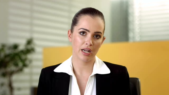 HD: Businesswoman Having Video Conference video