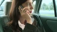 Businesswoman in a car video