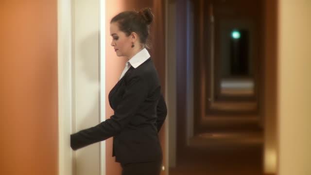 HD: Businesswoman In A Hotel video