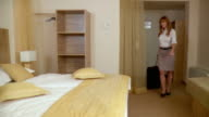 HD DOLLY: Businesswoman In A Hotel video