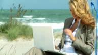 Businesswoman on the Beach video