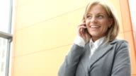 Businesswoman on the phone. video