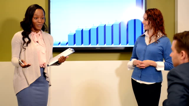 Businesswoman Present at Corporate Meeting video