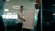 Businesswoman presenting her ideas to colleagues video