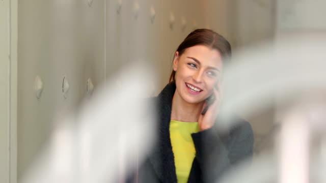 Businesswoman Using Phone video