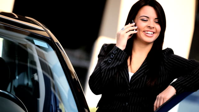 Businesswoman With Cell Phone video