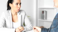 Businesswoman with client video