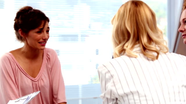 Businesswomen having a conversation video