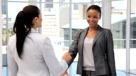 Businesswomen Shaking Hands video