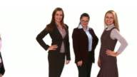 HD CRANE: Businesswomen video