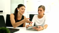 Businesswomen Working Together video