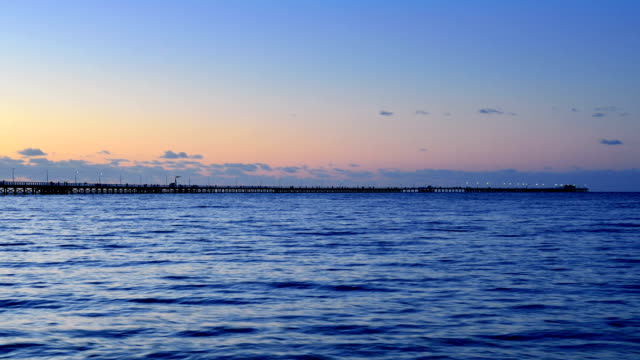 Busselton Jetty, Western Australia, Day to Night Transition, Panning video