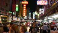 Bustling in China Town of Bangkok video