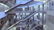 AERIAL Busy business building staircases video