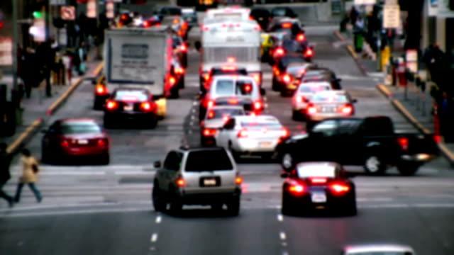 Busy city traffic HD video