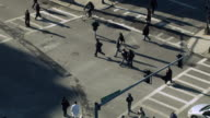 Busy Crosswalk, Aerial View video