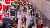 4K TIME LAPSE (4096x2160) :Busy crowd in airport travel day. (APPLE PRORES 422(HQ)). video