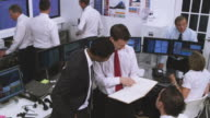 Busy customer service team or stock broker company video