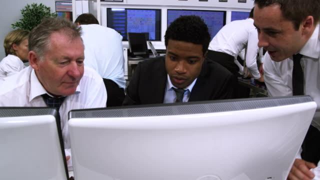 Busy customer service team or stock broker company video