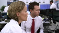Busy customer services team video