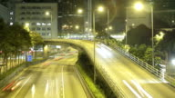 Busy freeway and overpass in Hong Kong video