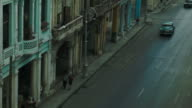 Busy Havana boulevard with classic cars video