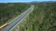 AERIAL: Busy highway in Europe video