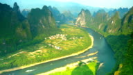 Busy Li river's waterway video