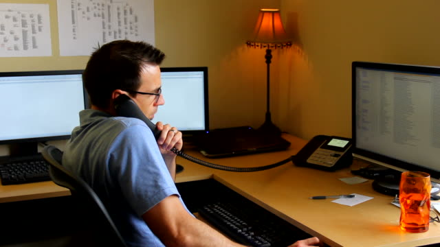 Busy Man in Home Office video