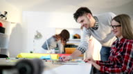 Busy office with young and creative people video